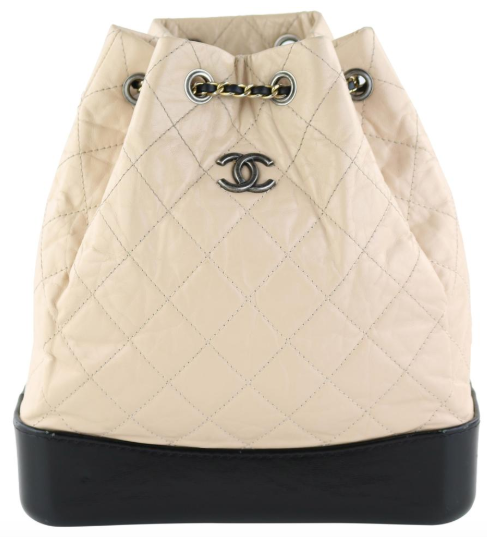 Beige/Black Large Gabrielle Backpack