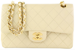 Beige Lambskin Small Flap