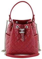 Red Caviar Small Drawstring Bag