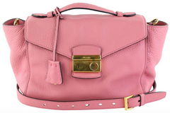 Pink Top Handle Tote