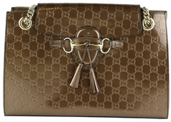 Bronze Guccissima Emily Large Chain Bag
