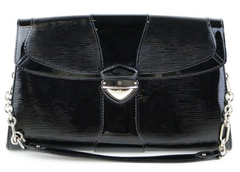 Iena Black Epi Leather Clutch