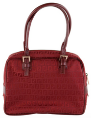 Vintage Red Canvas Shoulder Bag