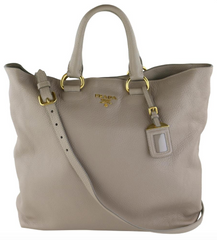 Grey Large Vitello Daino Tote