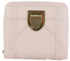 Light Pink Cannage Diorama Compact Wallet