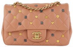 Charms Blush Lambskin Rectangular Mini
