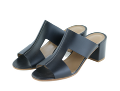 Black Ostia Sandals