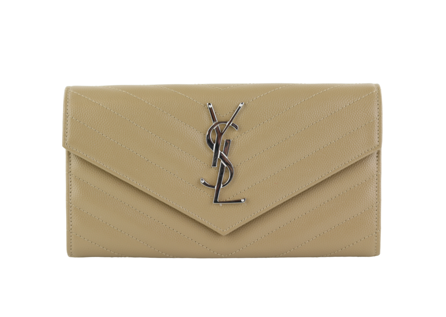 Dark Beige Chevron Wallet