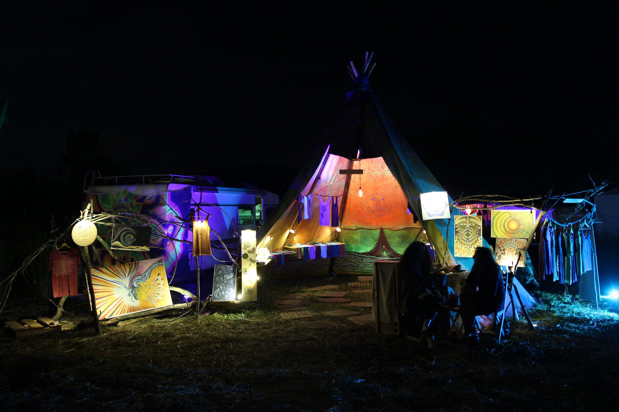 Tipi Shop in the Night