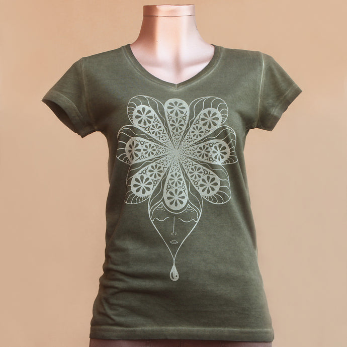 T-shirt - Flower - Woman
