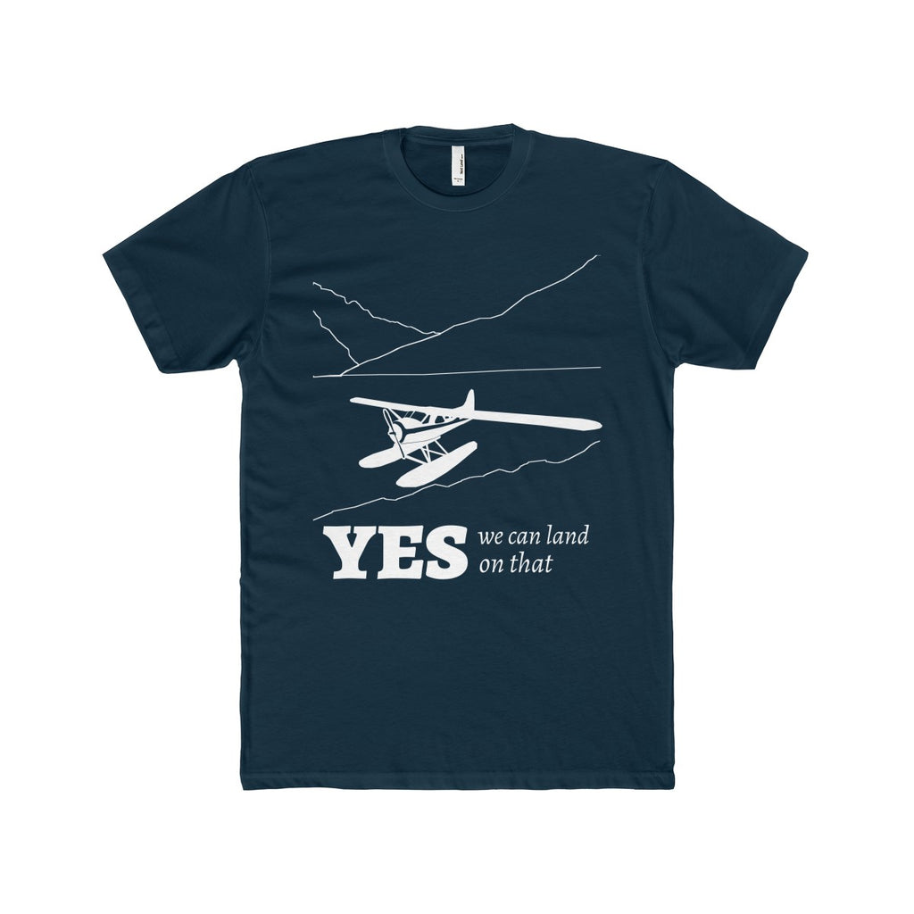 """Yes, We can land on that"" Men's Cotton Crew Tee"