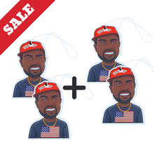 Load image into Gallery viewer, Buy Kanye Keep America Great - Car Air Freshener (MAGA Trump) Accessories online, best prices, buy now online at www.GrabThisNow.co