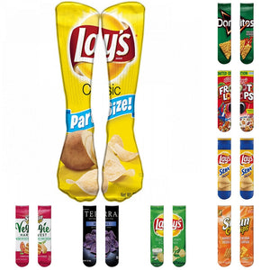 Buy Potato Chips Knee High Socks Socks online, best prices, buy now online at www.GrabThisNow.co
