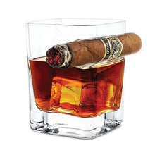 Load image into Gallery viewer, Buy Crystal Whisky Cigar Glass with Holder Home online, best prices, buy now online at www.GrabThisNow.co