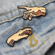 Load image into Gallery viewer, Buy Creation of Adam - Clothing Pin Set Pins online, best prices, buy now online at www.GrabThisNow.co