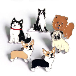 Buy Pugs, Corgis, Dogs & Cats - Clothing Pins Pins online, best prices, buy now online at www.GrabThisNow.co