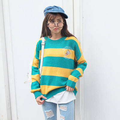 Buy Bright Stripe - Harajuku Inspired Candy Color Sweater Jumpers online, best prices, buy now online at www.GrabThisNow.co