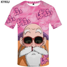 Load image into Gallery viewer, Buy Goku & Roshi - 3d Dragon Ball Tee Shirts online, best prices, buy now online at www.GrabThisNow.co