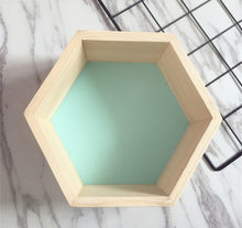 Load image into Gallery viewer, Wooden Hexagonal Shelf Storage & Wall Decoration