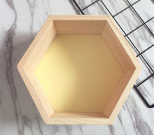 Load image into Gallery viewer, Buy Wooden Hexagonal Shelf Storage & Wall Decoration Home online, best prices, buy now online at www.GrabThisNow.co