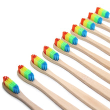 Load image into Gallery viewer, Buy Rainbow Head Bamboo Toothbrush - $10 for 2! Health online, best prices, buy now online at www.GrabThisNow.co