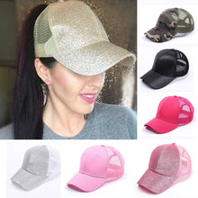 Load image into Gallery viewer, Buy Kardashian - Glitter Secret Ponytail Snapback Hat online, best prices, buy now online at www.GrabThisNow.co