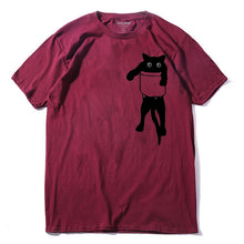 Load image into Gallery viewer, Buy Pocket Cat - Cool Kitty Cat T-Shirt T-Shirt online, best prices, buy now online at www.GrabThisNow.co
