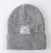 Load image into Gallery viewer, Buy Crude Kitty - Beanies Skullies Hats online, best prices, buy now online at www.GrabThisNow.co