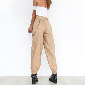 Buy Ghetto Track - High Waist Harem Pants with Free Chain Pants online, best prices, buy now online at www.GrabThisNow.co