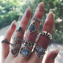 Load image into Gallery viewer, Buy Assorted 10pc Ring Sets - Boho Geometric Crystal Rings Rings online, best prices, buy now online at www.GrabThisNow.co