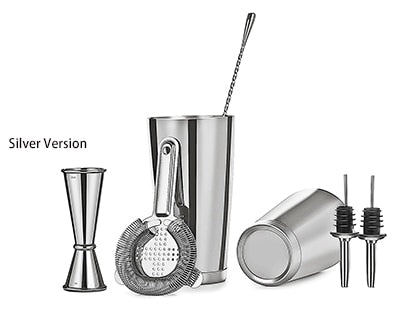 Boston Cocktail Shaker Bar Set