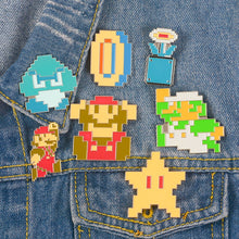 Load image into Gallery viewer, Buy Mario X Classic Pixel - Clothing Pins Pins online, best prices, buy now online at www.GrabThisNow.co