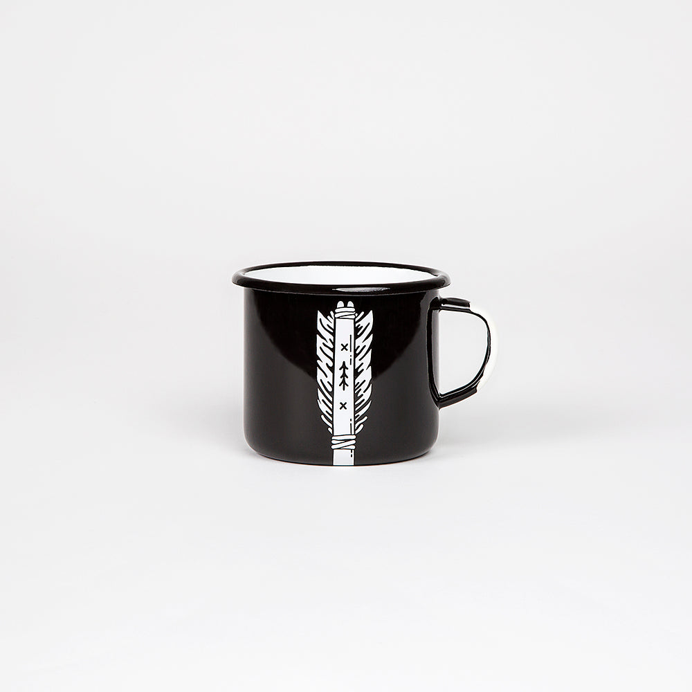 ENAMEL COFFEE MUG | ARROW