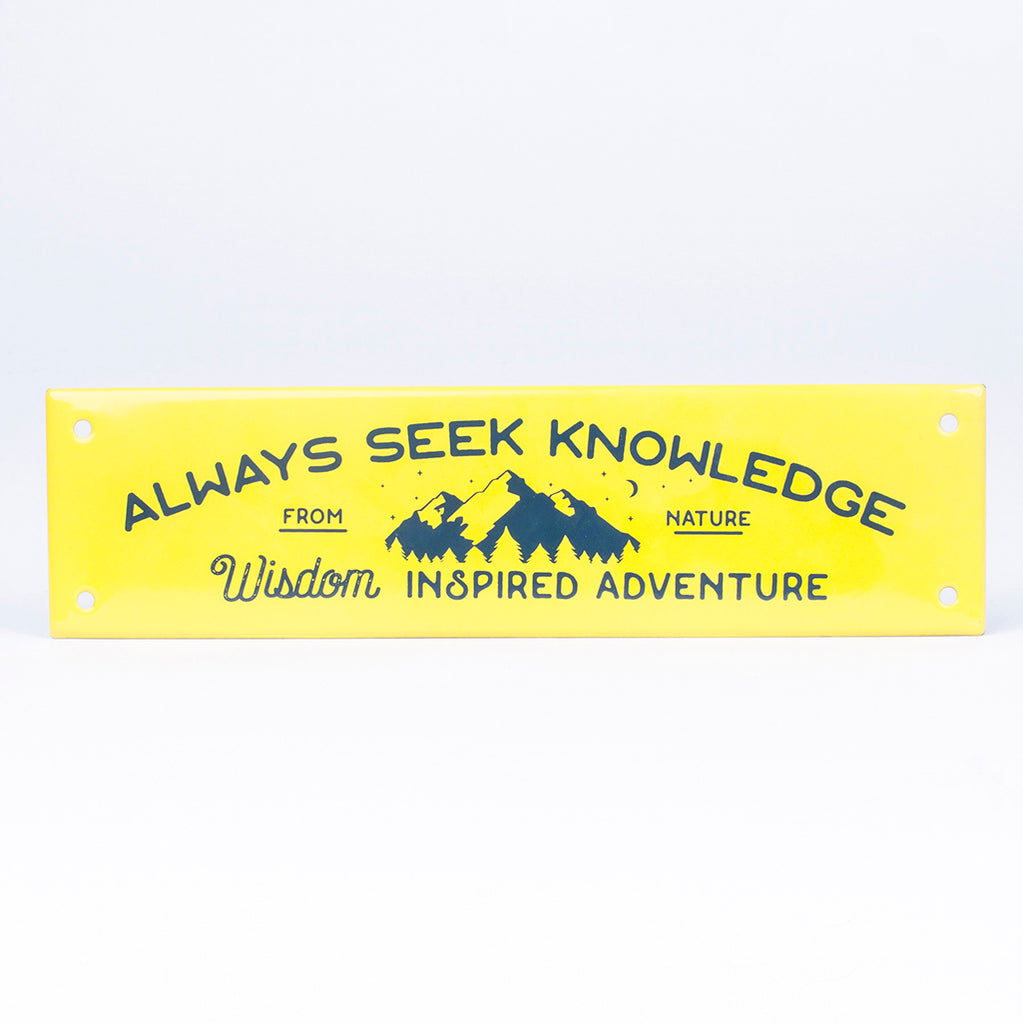 DEEP LEMON ENAMEL SIGN | WISDOM
