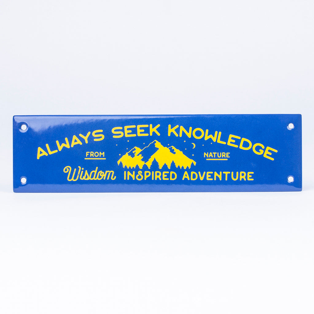 DEEP NAVY ENAMEL SIGN | WISDOM
