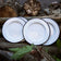 4 ENAMEL DINNER PLATES | PLAIN