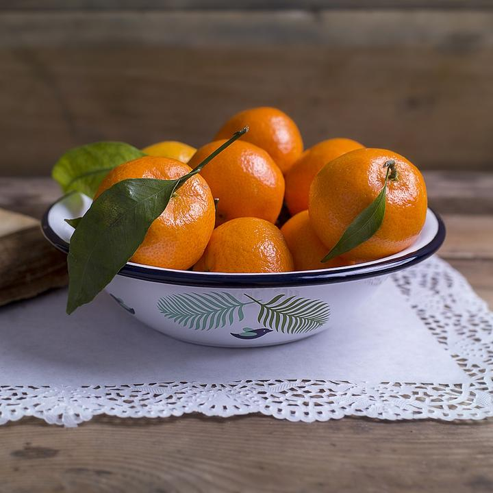 WIDE ENAMEL BOWL | SPRING
