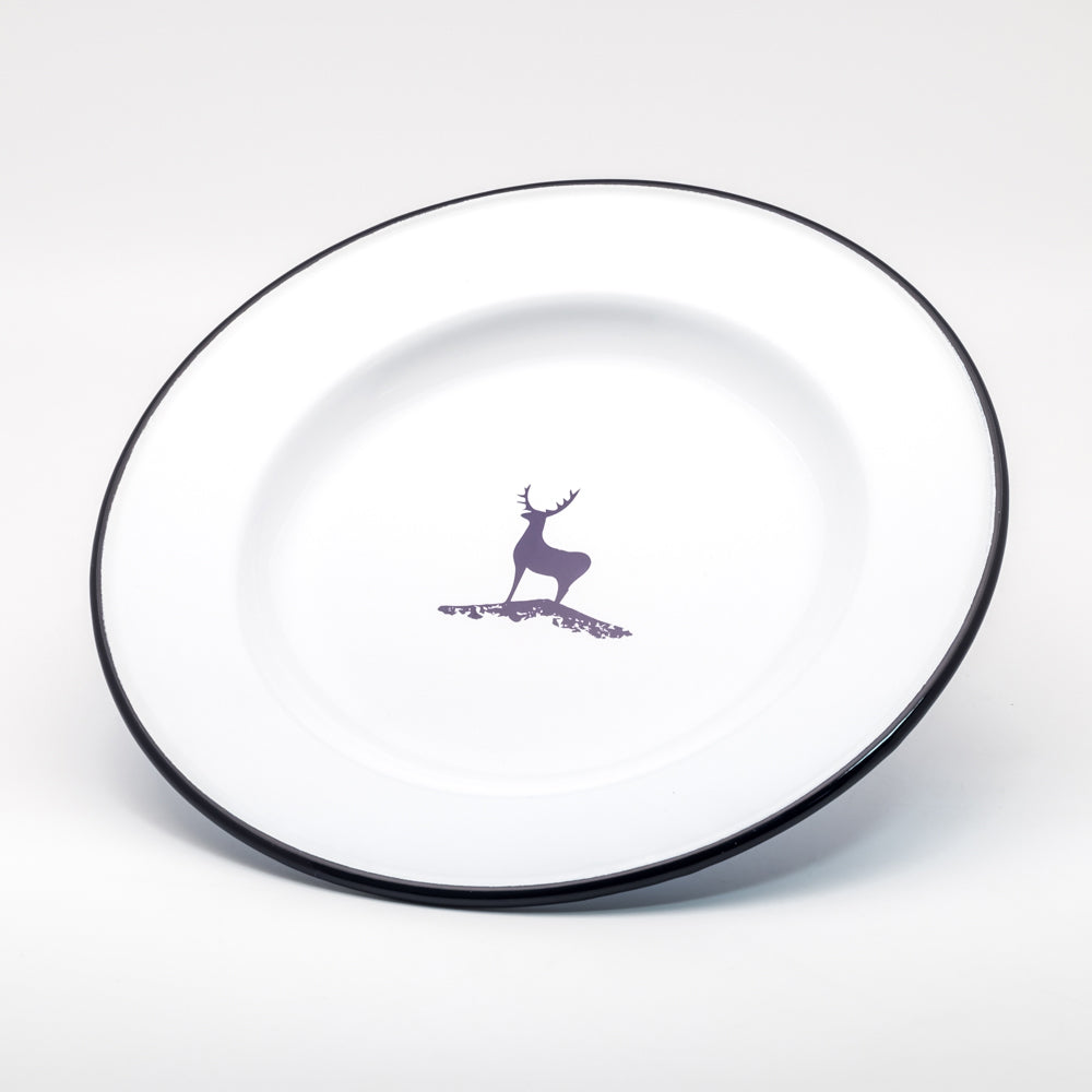 DEER ENAMEL DINNER PLATE | FOREST