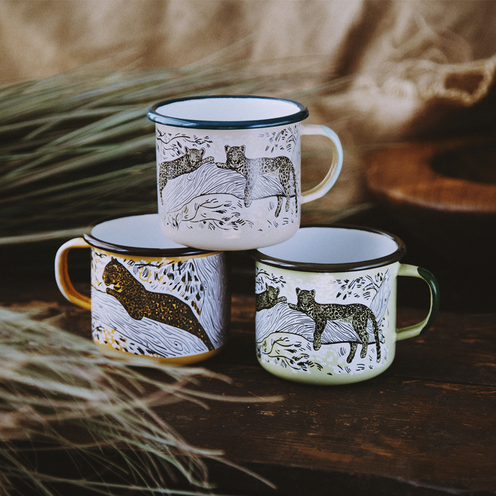 LEOPARD ENAMEL CAMPING MUG | THE BIG 5 OF AFRICA