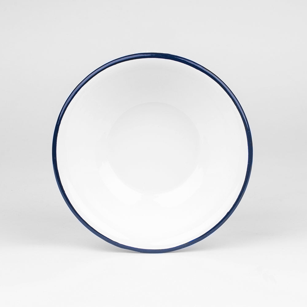 WIDE ENAMEL BOWL | PLAIN