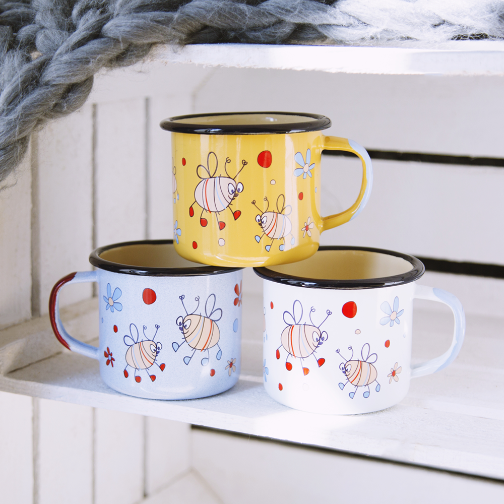 BEE ENAMEL MUG | FUN