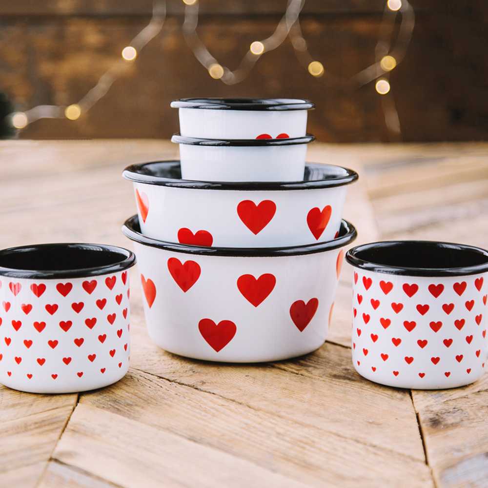 ALL YOU NEED IS LOVE ENAMEL SET | LOVE
