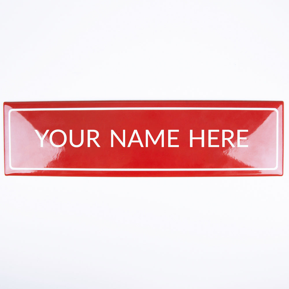 30 X 8 CM PERSONALISED ENAMEL SIGN
