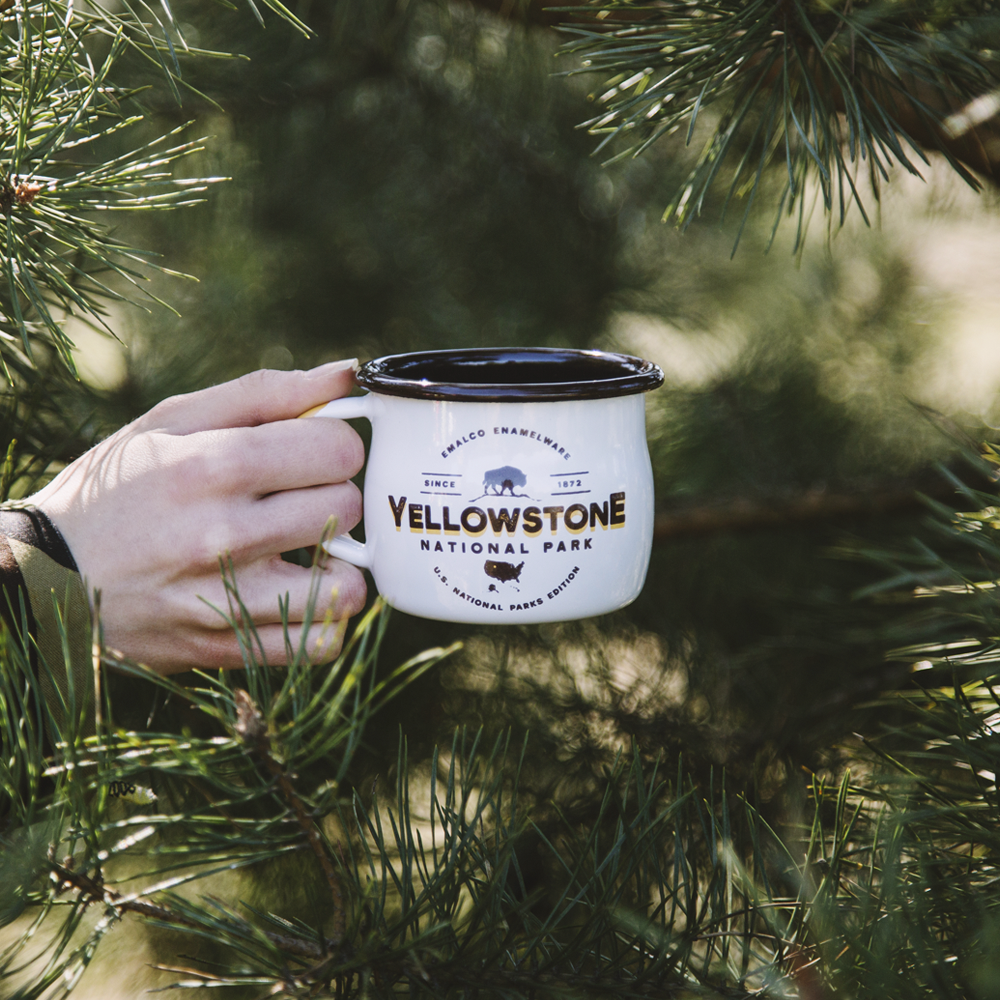 YELLOWSTONE ENAMEL COFFEE MUG | U.S. NATIONAL PARKS