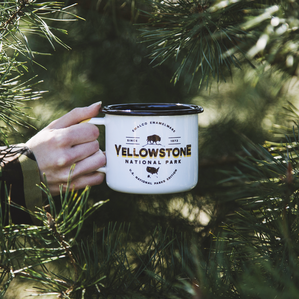 YELLOWSTONE ENAMEL CAMPING MUG | U.S. NATIONAL PARKS
