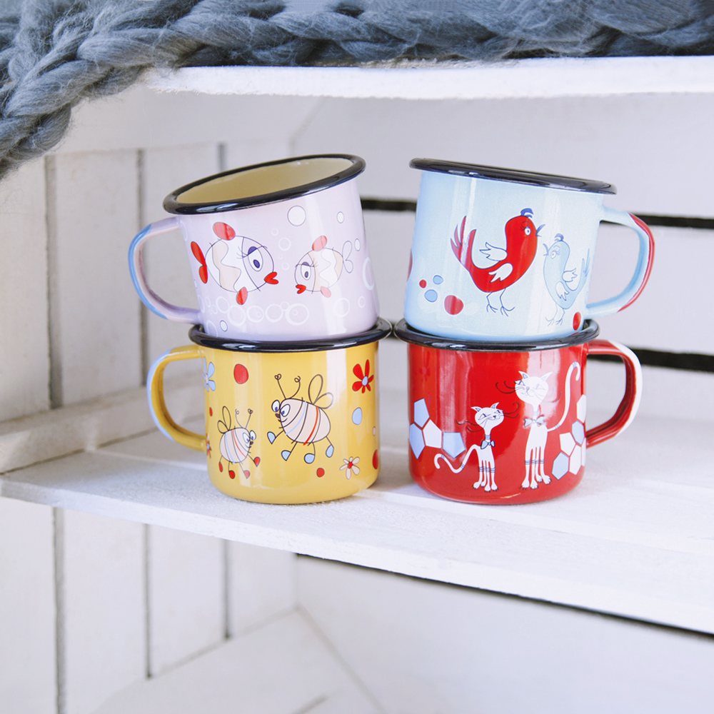 FUN ENAMEL MUGS SET | FUN