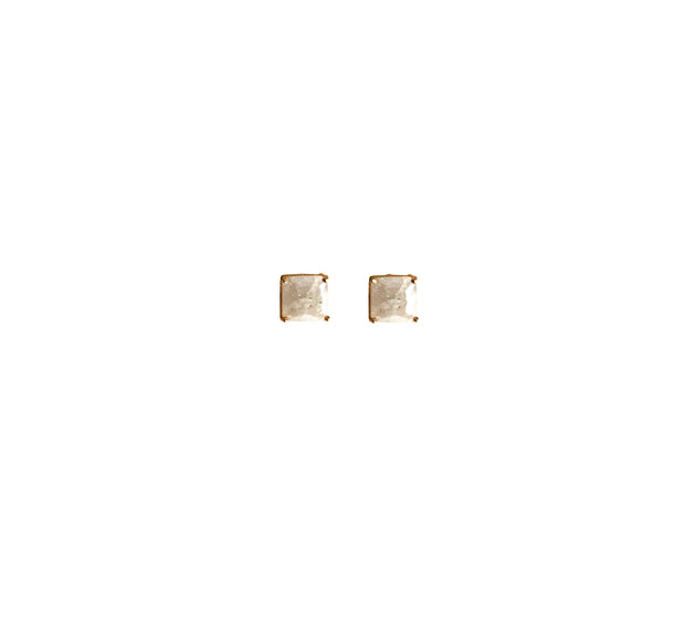 Sophie Solitaire Princess Cut Earrings - The House of Hyacinth