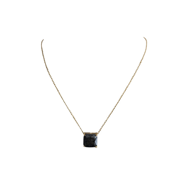 Sophie Solitaire Princess Cut Pendant Necklace - The House of Hyacinth