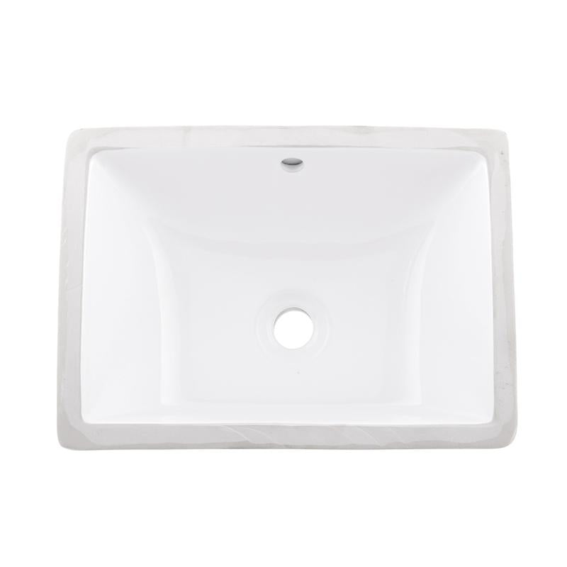 BSN-202C-W |  CERAMIC RECTANGLE SINGLE BOWL UNDERMOUNT BATHROOM SINK