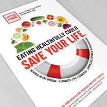 Load image into Gallery viewer, WFPB + ME - Save Your Life Poster